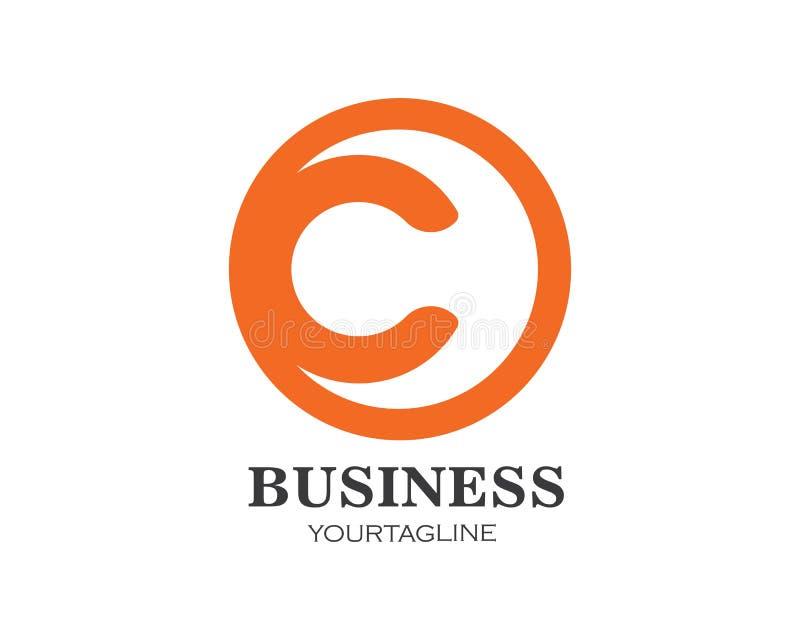 διάνυσμα επιχειρησιακών προτύπων λογότυπων επιστολών γ απεικόνιση αποθεμάτων