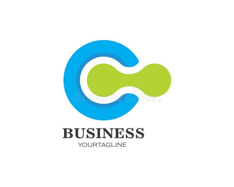διάνυσμα επιχειρησιακών προτύπων λογότυπων επιστολών γ διανυσματική απεικόνιση