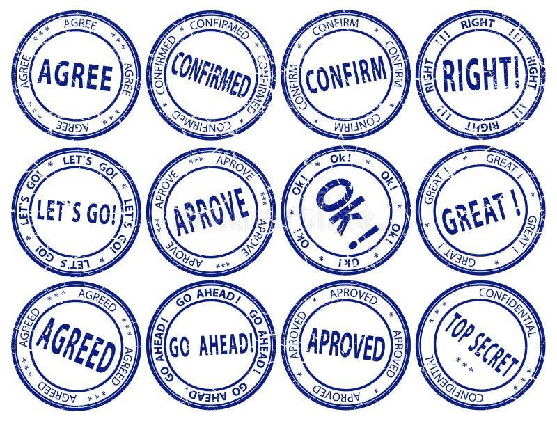 διάνυσμα επιχειρησιακών στρογγυλό καθορισμένο γραμματοσήμων διανυσματική απεικόνιση