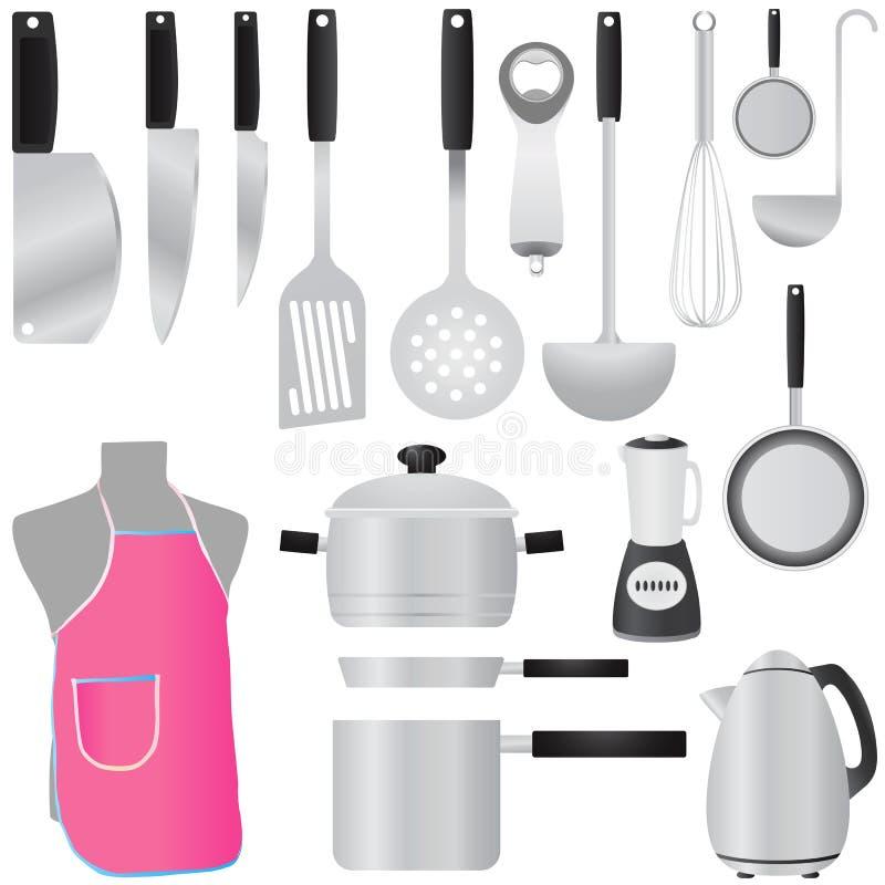 διάνυσμα εργαλείων κουζινών απεικόνιση αποθεμάτων