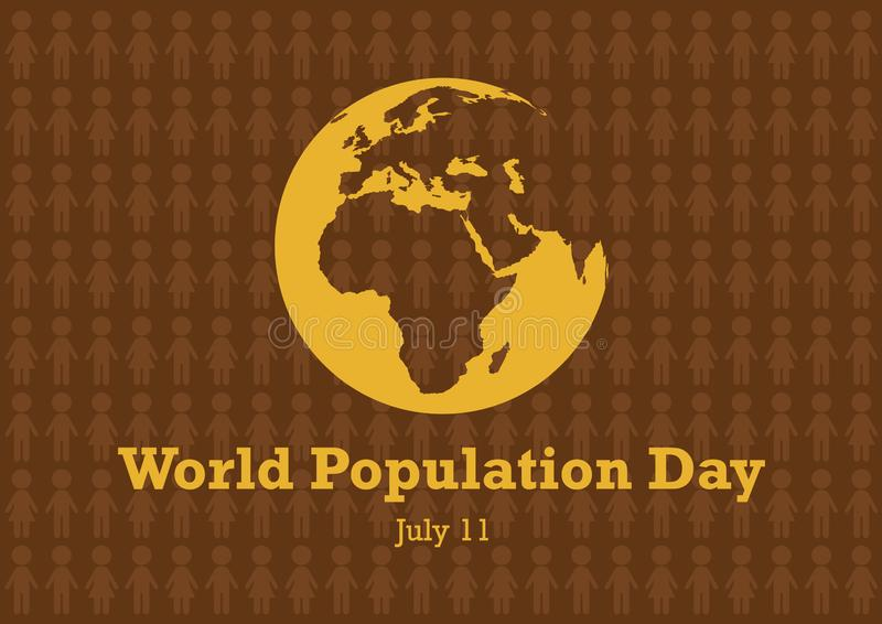 Διάνυσμα ημέρας παγκόσμιου πληθυσμού απεικόνιση αποθεμάτων