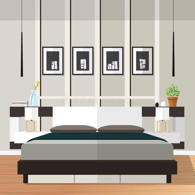 Διάνυσμα ιδέας κρεβατοκάμαρων διανυσματική απεικόνιση