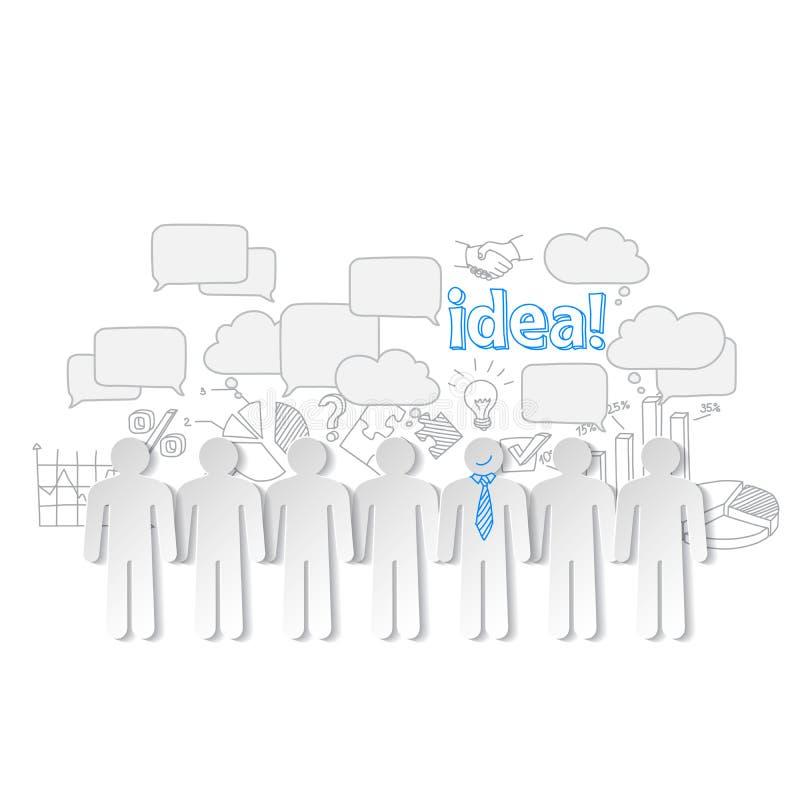 Διάνυσμα ιδέας ομαδικής εργασίας επικοινωνίας επιχειρηματιών διανυσματική απεικόνιση