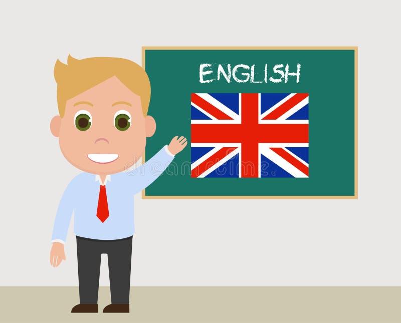 Διάνυσμα καθηγητών Αγγλικών διανυσματική απεικόνιση