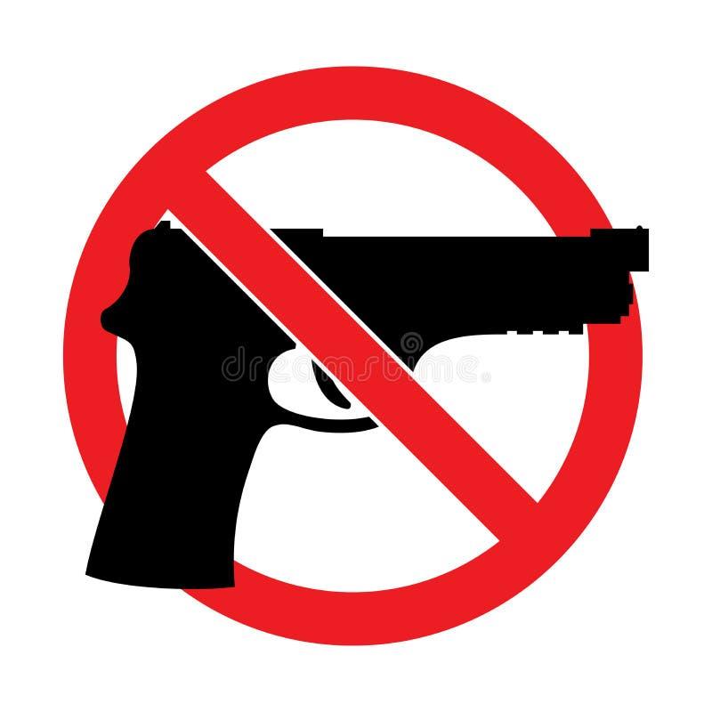 Διάνυσμα κανένα σημάδι πυροβόλων όπλων ελεύθερη απεικόνιση δικαιώματος
