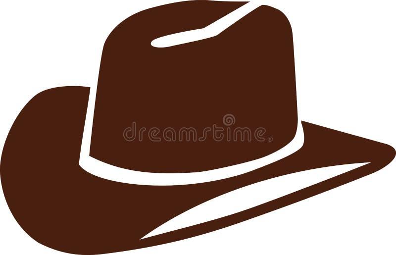 Διάνυσμα καπέλων κάουμποϋ ελεύθερη απεικόνιση δικαιώματος