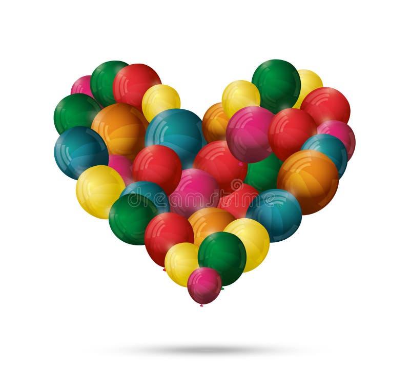 Download διάνυσμα καρδιών μπαλονιώ&nu Διανυσματική απεικόνιση - εικονογραφία από κομφετί, αισθανθείτε: 22779771