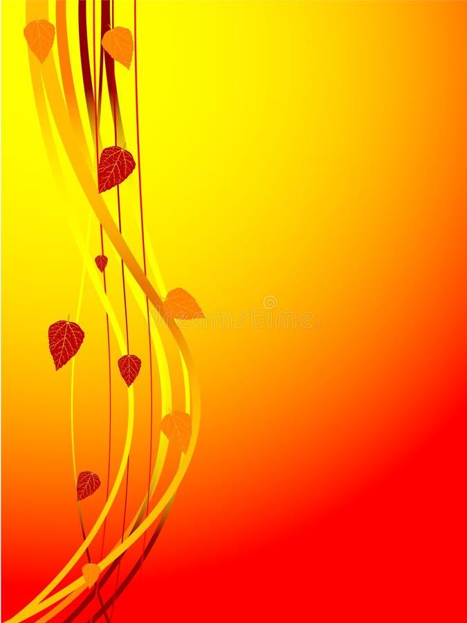διάνυσμα καρτών φθινοπώρο&ups διανυσματική απεικόνιση