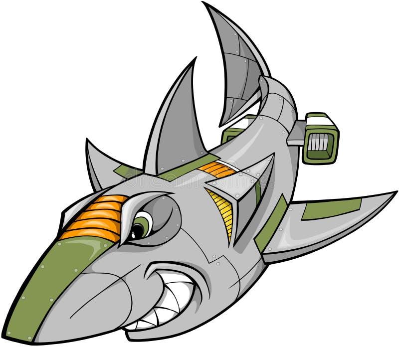 διάνυσμα καρχαριών ρομπότ διανυσματική απεικόνιση