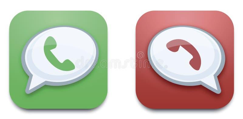 διάνυσμα κλήσης κουμπιών διανυσματική απεικόνιση