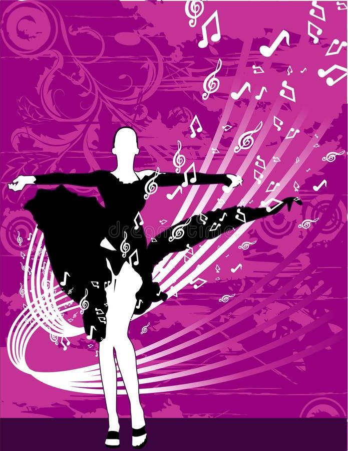 διάνυσμα κοριτσιών χορού ελεύθερη απεικόνιση δικαιώματος