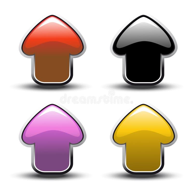 διάνυσμα κουμπιών βελών απεικόνιση αποθεμάτων