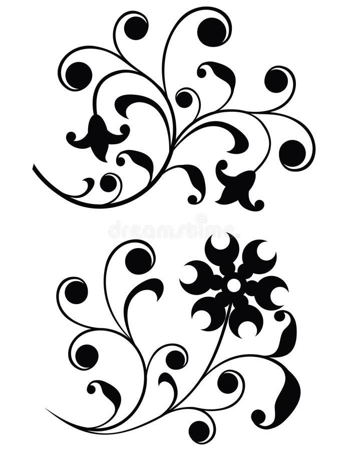 Download διάνυσμα κυλίνδρων διακ&omi Διανυσματική απεικόνιση - εικονογραφία από λουλούδι, μονοχρωματικός: 378301