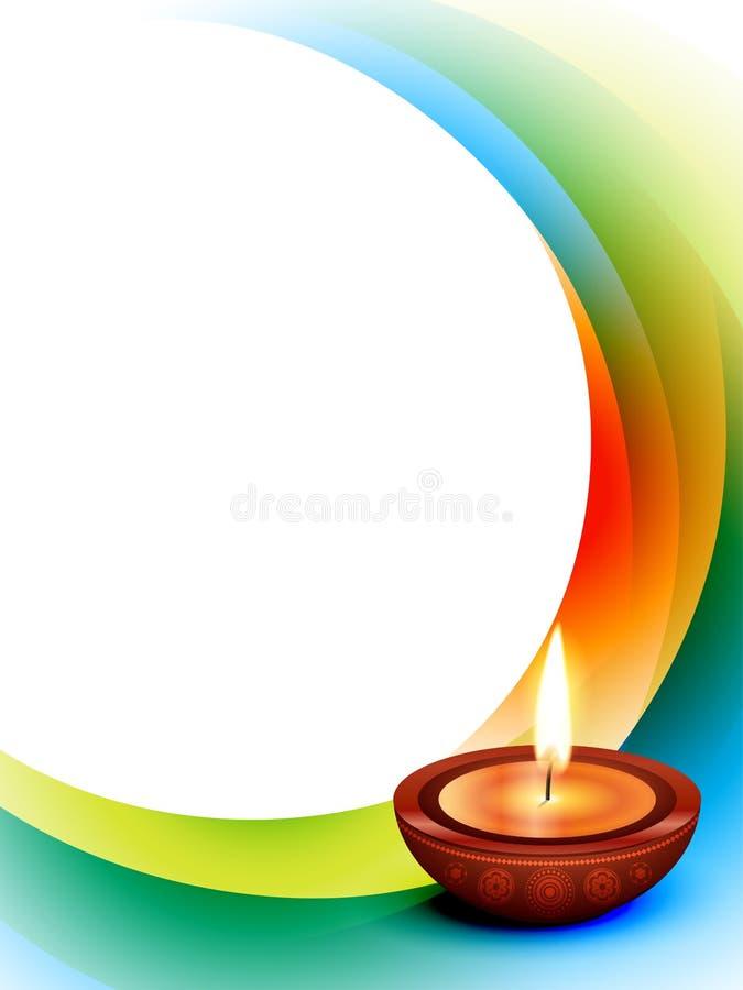 Διάνυσμα κυμάτων Diwali απεικόνιση αποθεμάτων