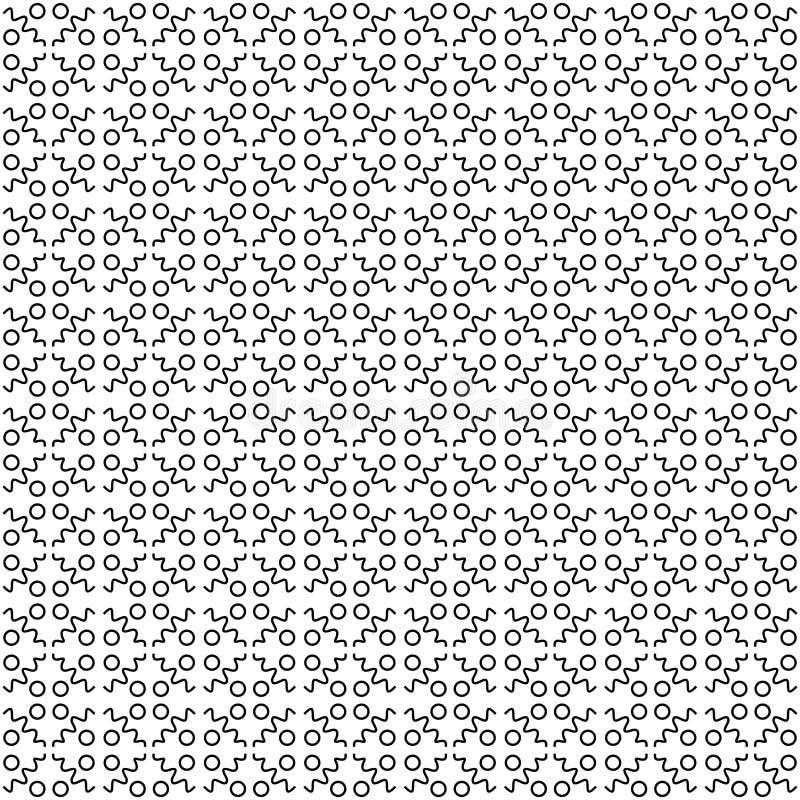 Διάνυσμα κύκλων λουλουδιών τέχνης γραμμών κυμάτων σχεδίων διανυσματική απεικόνιση