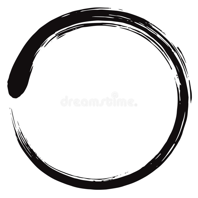 Διάνυσμα κύκλων Enso Zen Minimalistic απεικόνιση αποθεμάτων