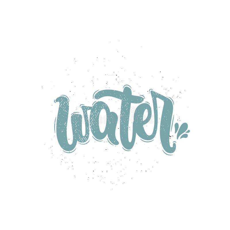 Διάνυσμα λέξης νερού ελεύθερη απεικόνιση δικαιώματος