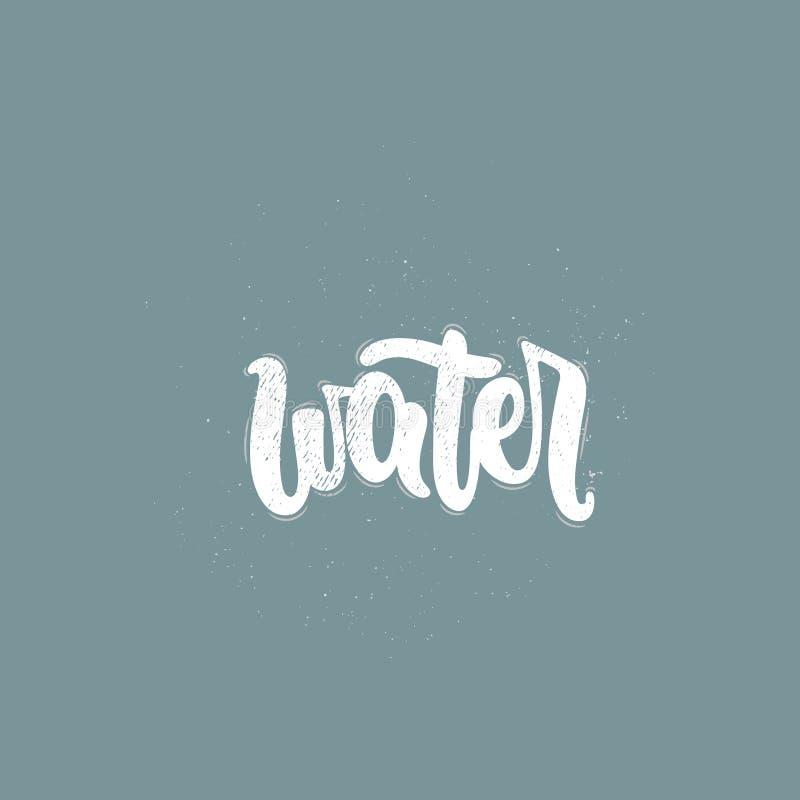 Διάνυσμα λέξης νερού απεικόνιση αποθεμάτων