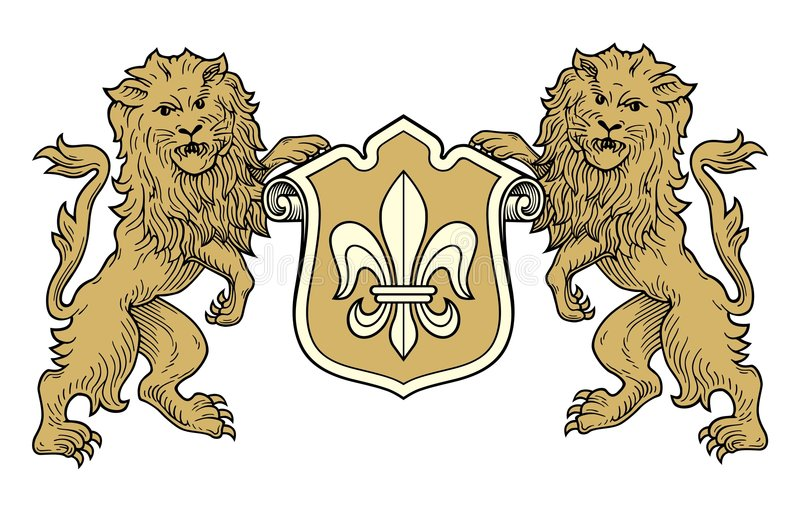 διάνυσμα λιονταριών παλτών απεικόνιση αποθεμάτων