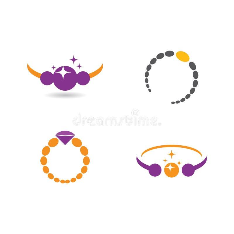 Διάνυσμα λογότυπου κοσμημάτων διανυσματική απεικόνιση