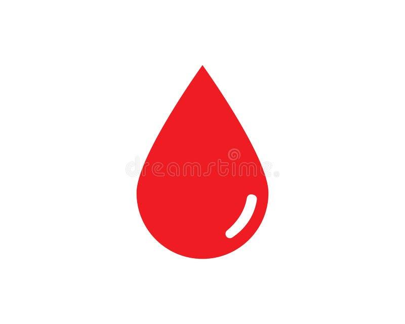 Διάνυσμα λογότυπων αίματος ελεύθερη απεικόνιση δικαιώματος