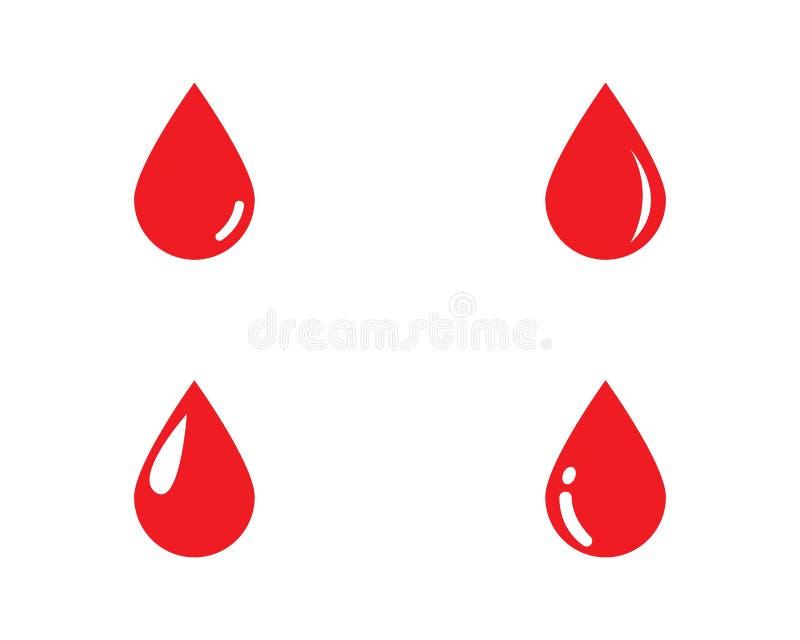 Διάνυσμα λογότυπων αίματος διανυσματική απεικόνιση