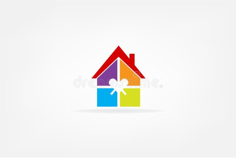 Διάνυσμα λογότυπων ακίνητων περιουσιών σπιτιών απεικόνιση αποθεμάτων