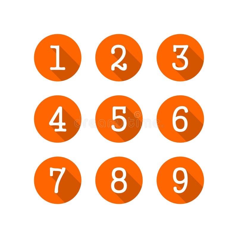 Διάνυσμα λογότυπων αριθμού Εικονίδιο αριθμού διανυσματική απεικόνιση