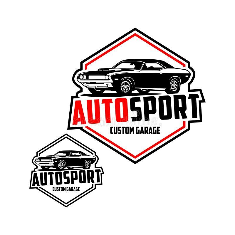Διάνυσμα λογότυπων γκαράζ συνήθειας Autosport απεικόνιση αποθεμάτων