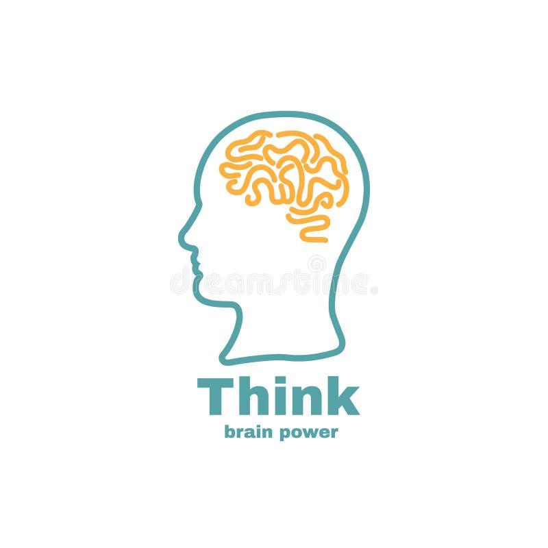 Διάνυσμα λογότυπων εγκεφάλου διανυσματική απεικόνιση