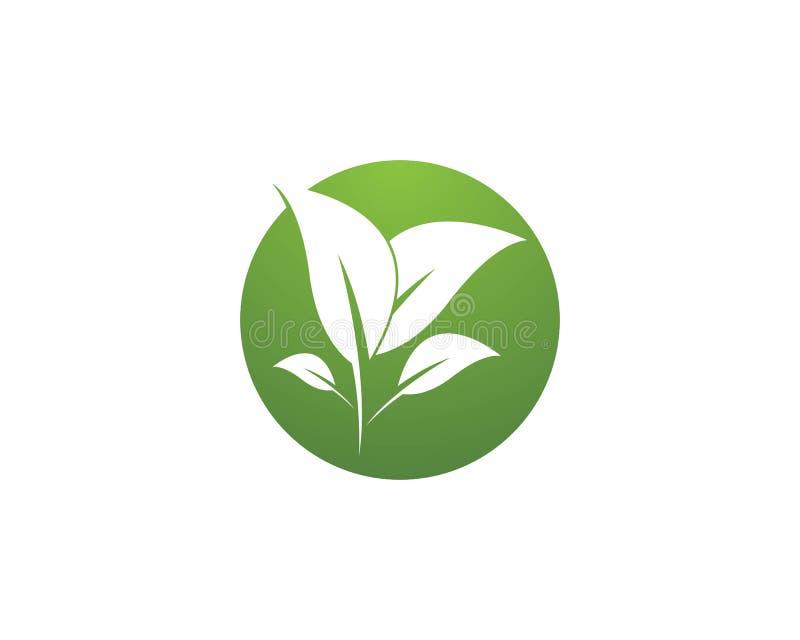Διάνυσμα λογότυπων εικονιδίων εγκαταστάσεων φύσης ελεύθερη απεικόνιση δικαιώματος