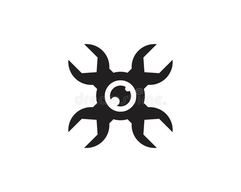 Διάνυσμα λογότυπων εικονιδίων κηφήνων διανυσματική απεικόνιση