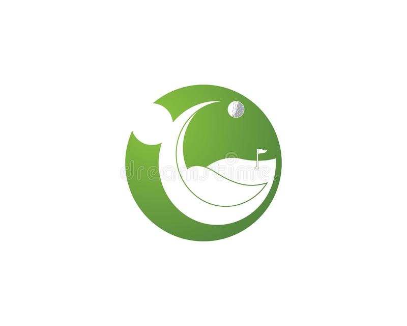 Διάνυσμα λογότυπων εικονιδίων τομέων γκολφ απεικόνιση αποθεμάτων