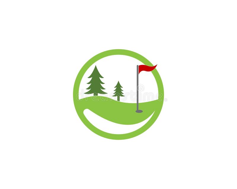 Διάνυσμα λογότυπων εικονιδίων τομέων γκολφ ελεύθερη απεικόνιση δικαιώματος
