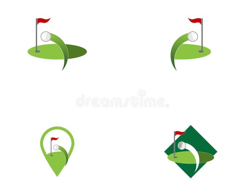 Διάνυσμα λογότυπων εικονιδίων τομέων γκολφ διανυσματική απεικόνιση