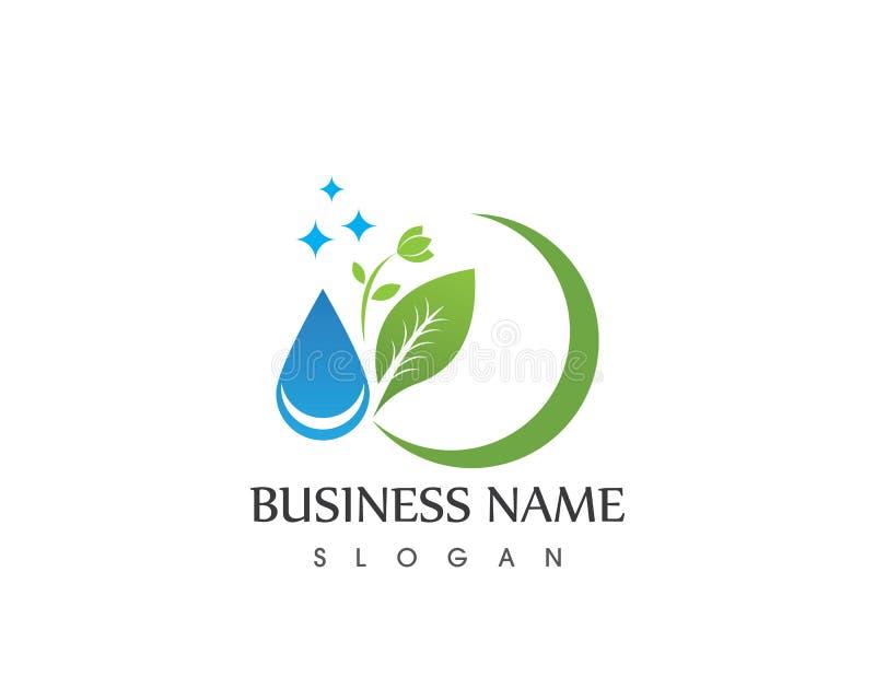 Διάνυσμα λογότυπων εικονιδίων φύλλων φυτών φύσης απεικόνιση αποθεμάτων
