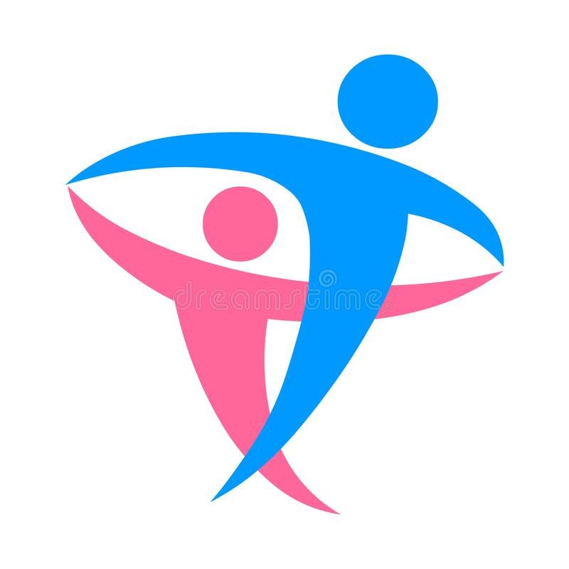 Διάνυσμα λογότυπων ζεύγους Αρσενικό και θηλυκό εικονίδιο λογότυπων ελεύθερη απεικόνιση δικαιώματος