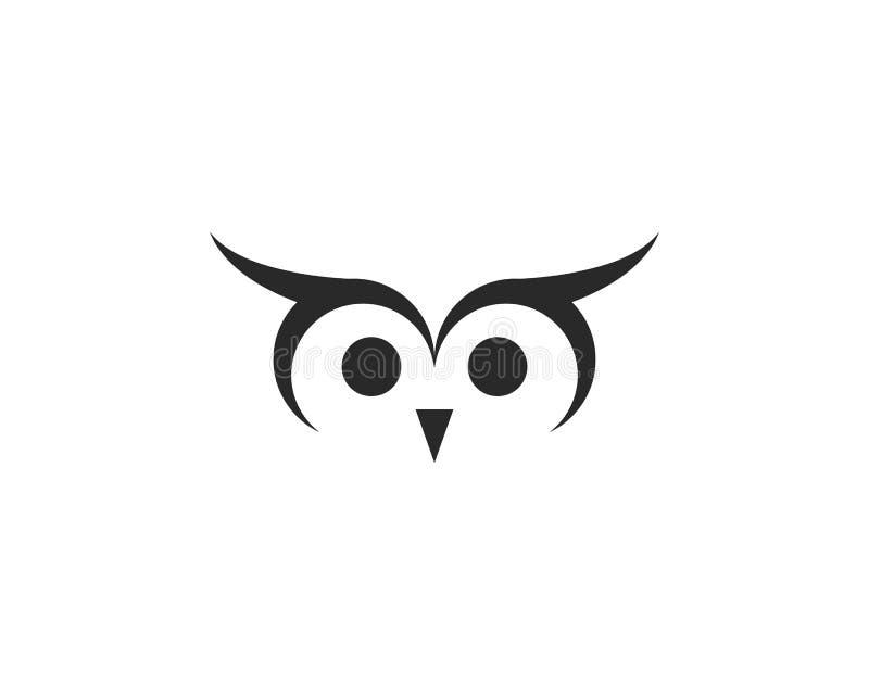 Διάνυσμα λογότυπων κουκουβαγιών απεικόνιση αποθεμάτων