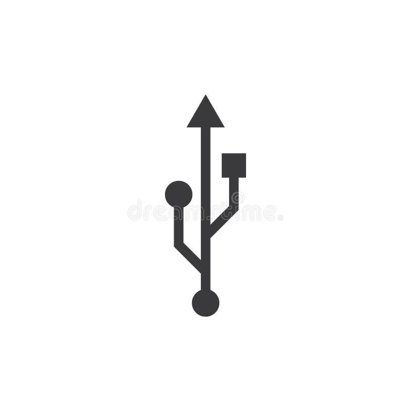 Διάνυσμα λογότυπων μεταφοράς δεδομένων USB διανυσματική απεικόνιση
