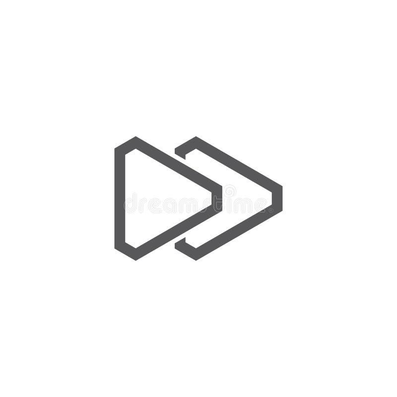 Διάνυσμα λογότυπων παιχνιδιού διανυσματική απεικόνιση