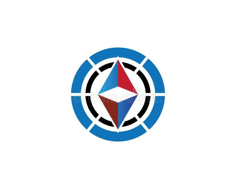 Διάνυσμα λογότυπων πυξίδων διανυσματική απεικόνιση