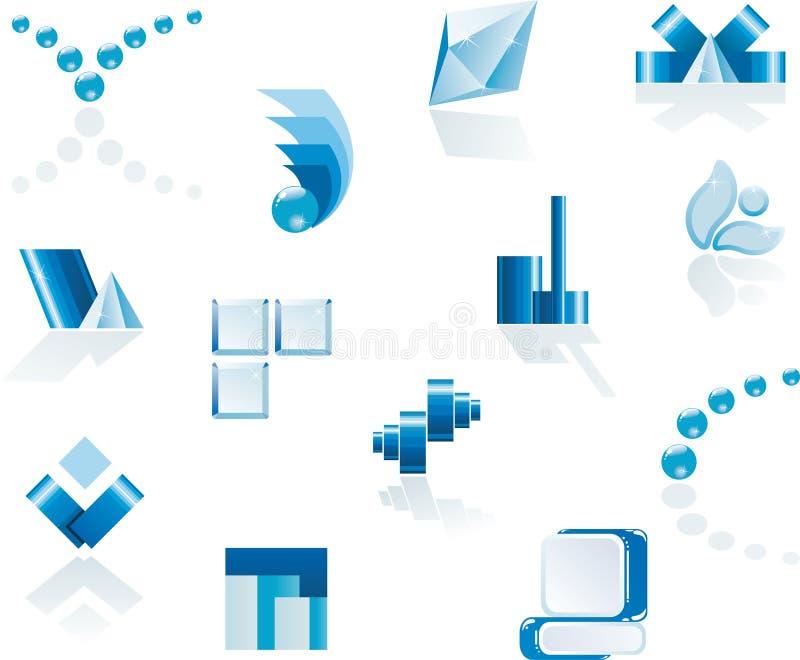 διάνυσμα λογότυπων στοιχείων σχεδίου διανυσματική απεικόνιση
