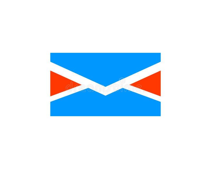 Διάνυσμα λογότυπων ταχυδρομείου απεικόνιση αποθεμάτων
