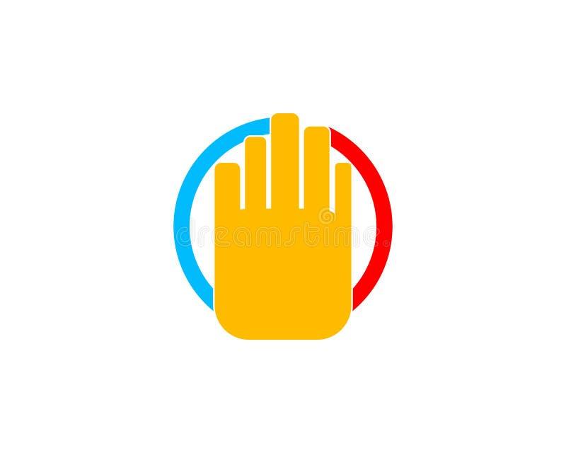Διάνυσμα λογότυπων χεριών στάσεων ελεύθερη απεικόνιση δικαιώματος