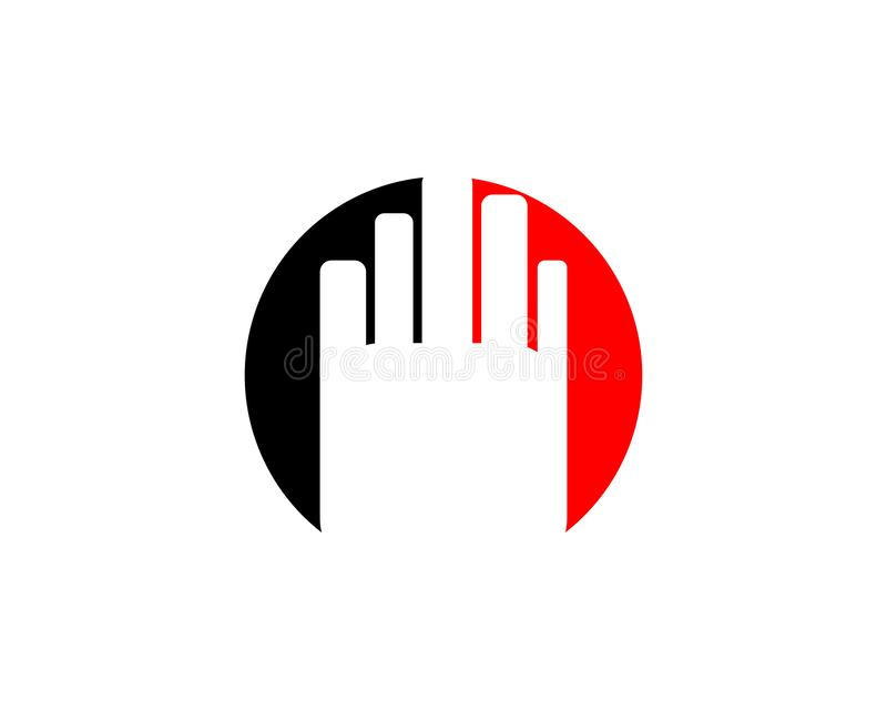 Διάνυσμα λογότυπων χεριών στάσεων διανυσματική απεικόνιση
