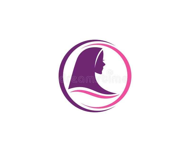 Διάνυσμα λογότυπων Hijab απεικόνιση αποθεμάτων