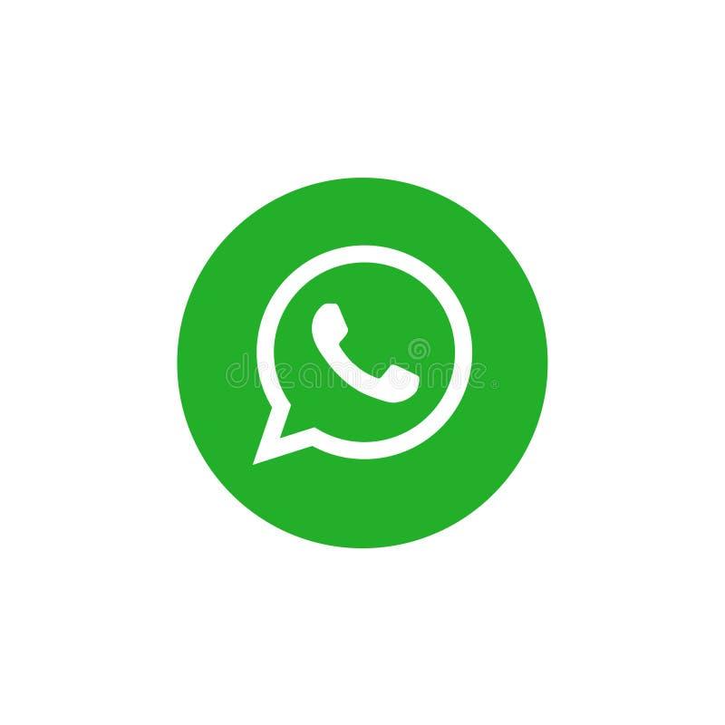 Διάνυσμα λογότυπων Whatsapp ελεύθερη απεικόνιση δικαιώματος