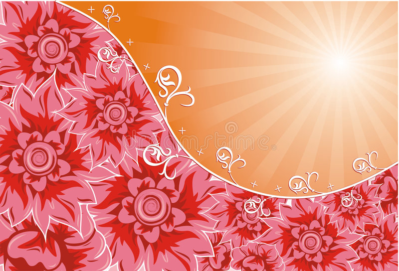 διάνυσμα λουλουδιών αν&a διανυσματική απεικόνιση