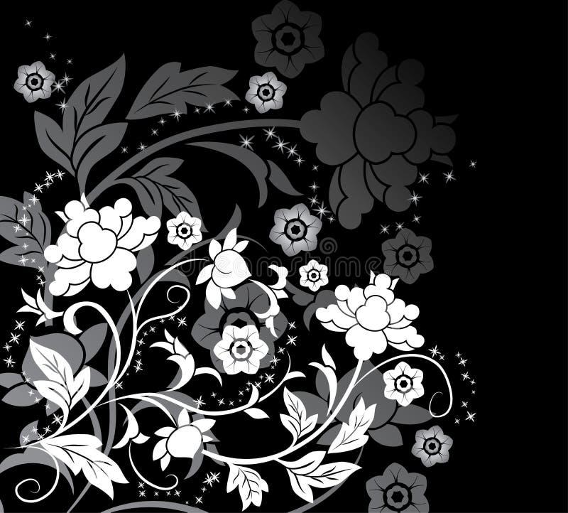 διάνυσμα λουλουδιών στοιχείων σχεδίου ανασκόπησης απεικόνιση αποθεμάτων