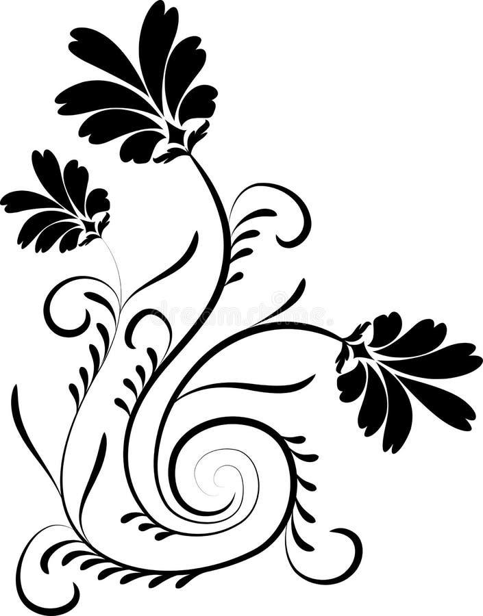 διάνυσμα λουλουδιών στοιχείων σχεδίου ελεύθερη απεικόνιση δικαιώματος
